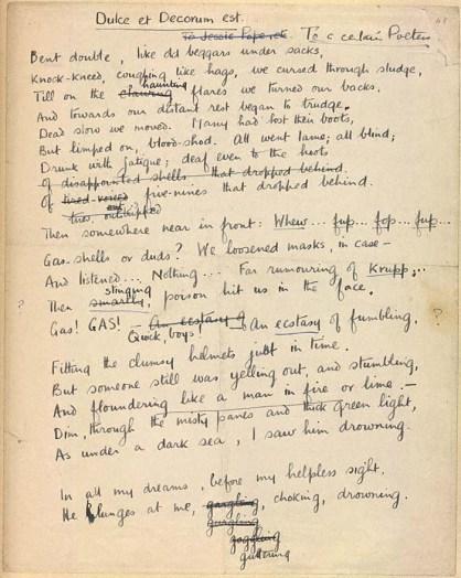 Wilfred Owen - Dulce et Decorum Est
